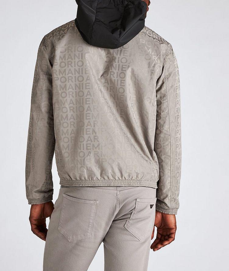 Reversible Jacquard Nylon Hooded Jacket image 2