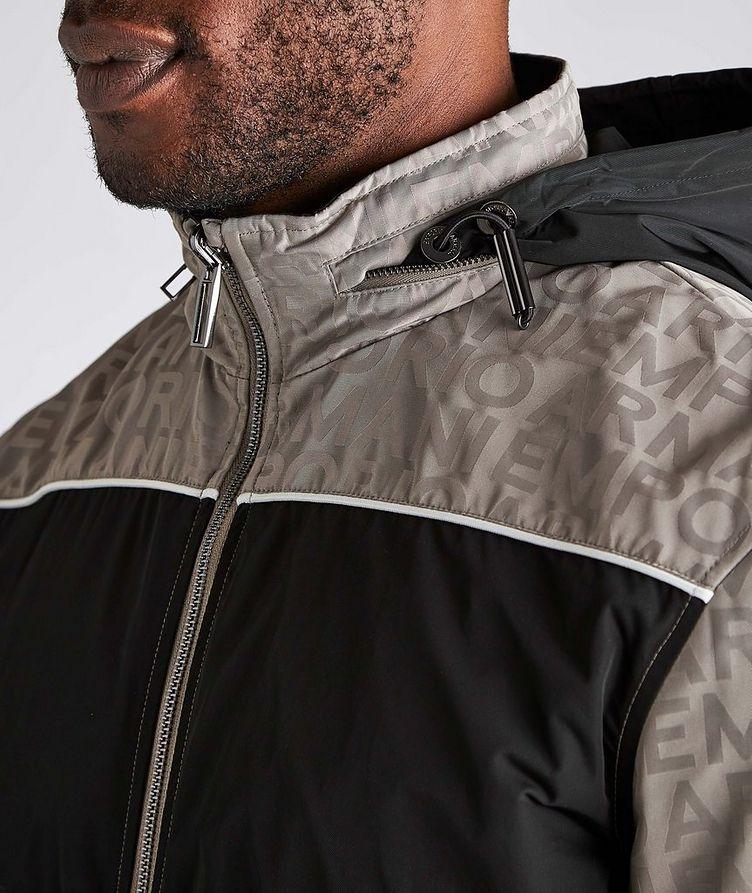Reversible Jacquard Nylon Hooded Jacket image 3