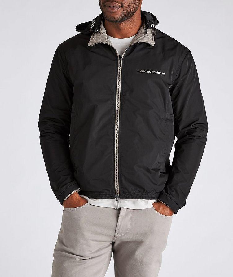 Reversible Jacquard Nylon Hooded Jacket image 4