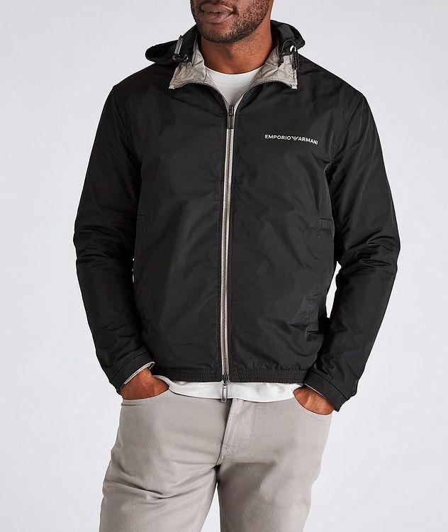 Reversible Jacquard Nylon Hooded Jacket picture 5