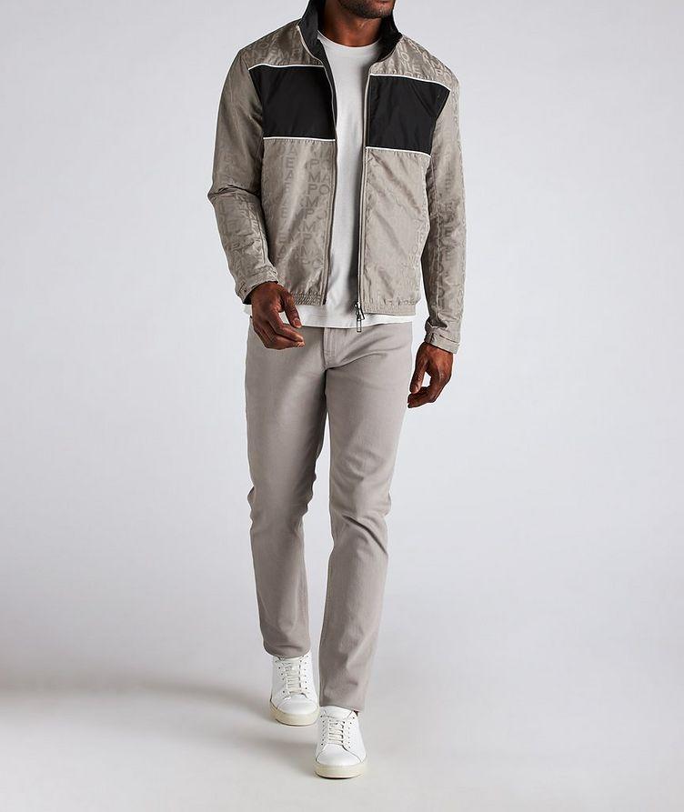 Reversible Jacquard Nylon Hooded Jacket image 5