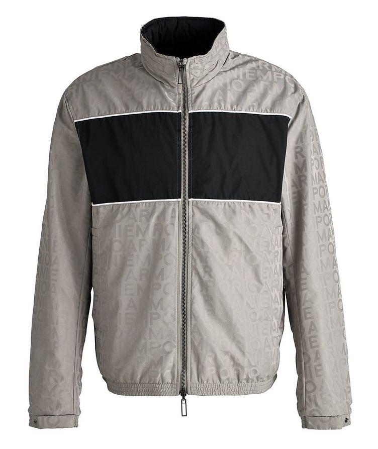 Reversible Jacquard Nylon Hooded Jacket image 0
