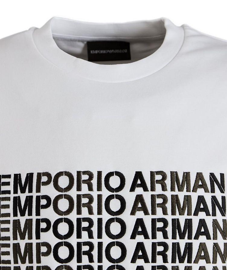 Embroidered Logo Cotton-Blend Sweatshirt image 1