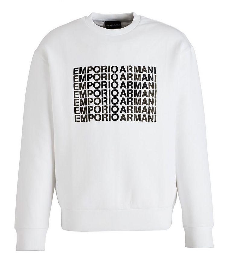 Embroidered Logo Cotton-Blend Sweatshirt image 0