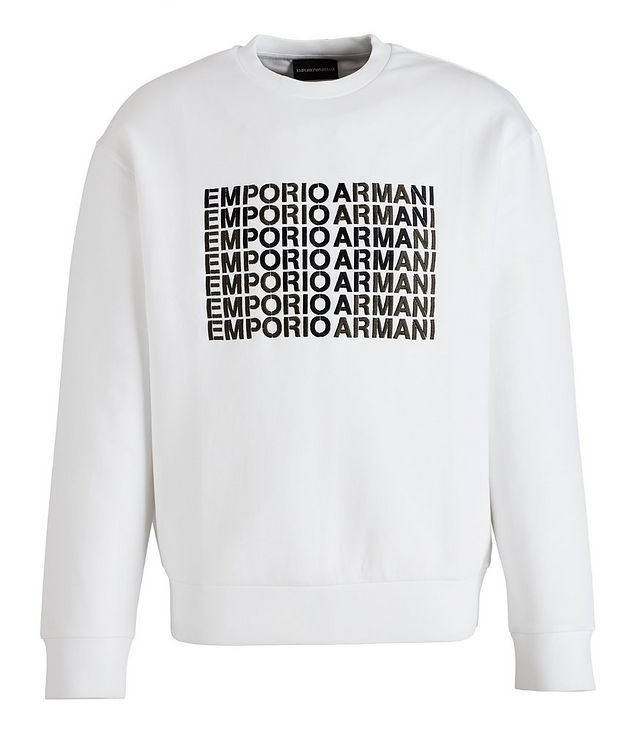 Embroidered Logo Cotton-Blend Sweatshirt picture 1