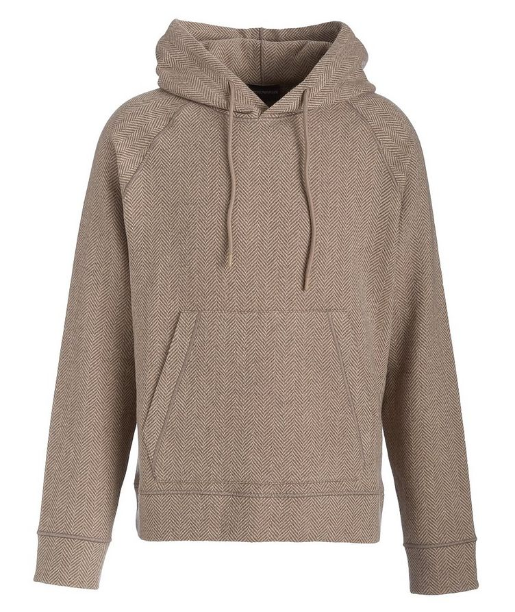 Chevron Wool-Blend Hooded Sweatshirt image 0