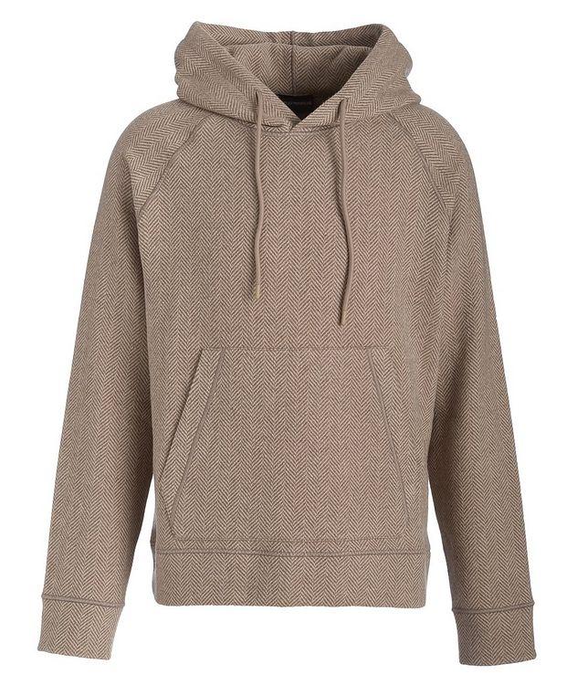 Chevron Wool-Blend Hooded Sweatshirt picture 1