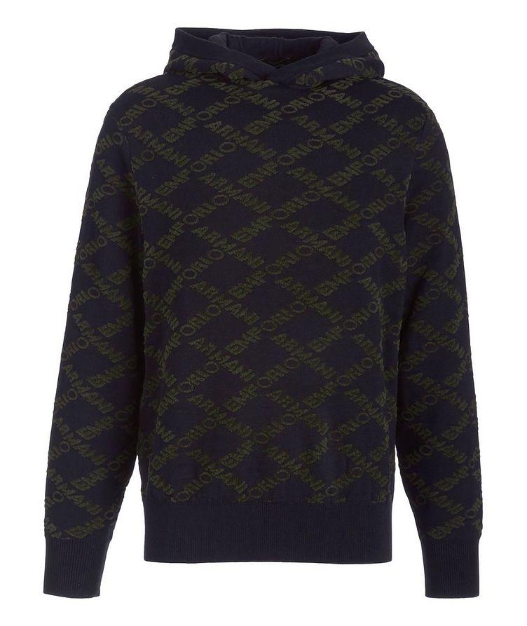 Logo Wool-Cotton Blend Hooded Sweatshirt image 0
