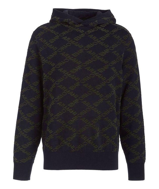 Logo Wool-Cotton Blend Hooded Sweatshirt picture 1