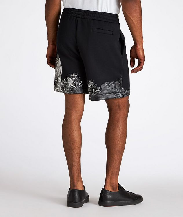 Surreal Print Cotton-Blend Board Shorts picture 3