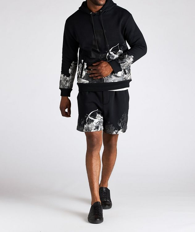 Surreal Print Cotton-Blend Board Shorts picture 4