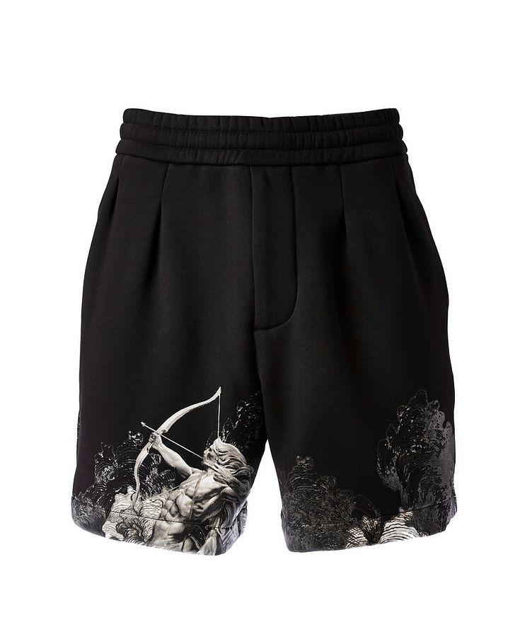 Surreal Print Cotton-Blend Board Shorts image 0