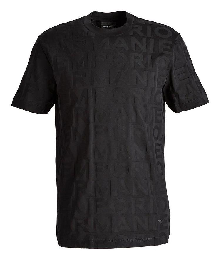 T-shirt en coton avec lettrage image 0