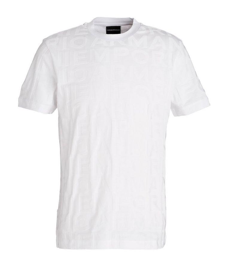 Jacquard Lettering Cotton T-Shirt image 0