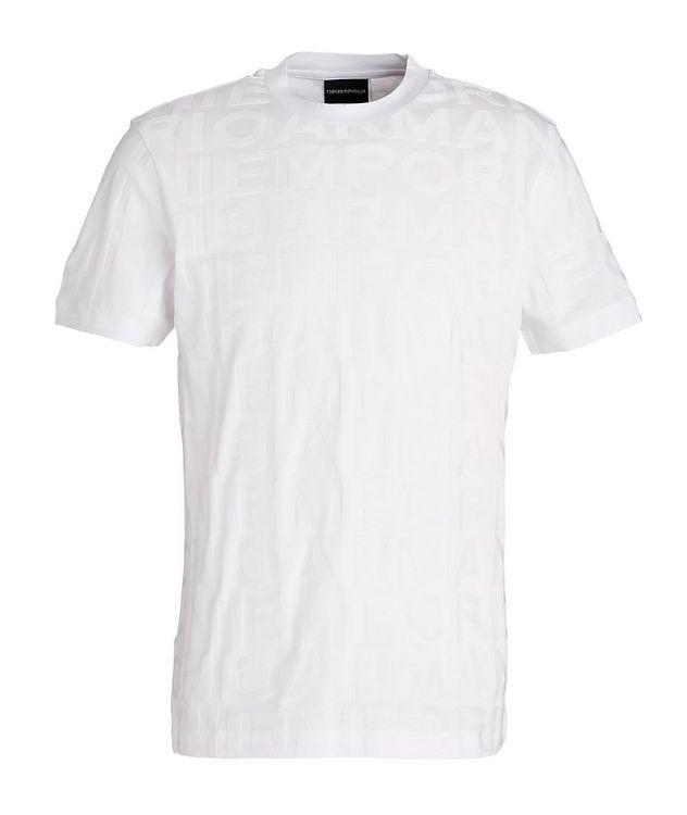 Jacquard Lettering Cotton T-Shirt picture 1