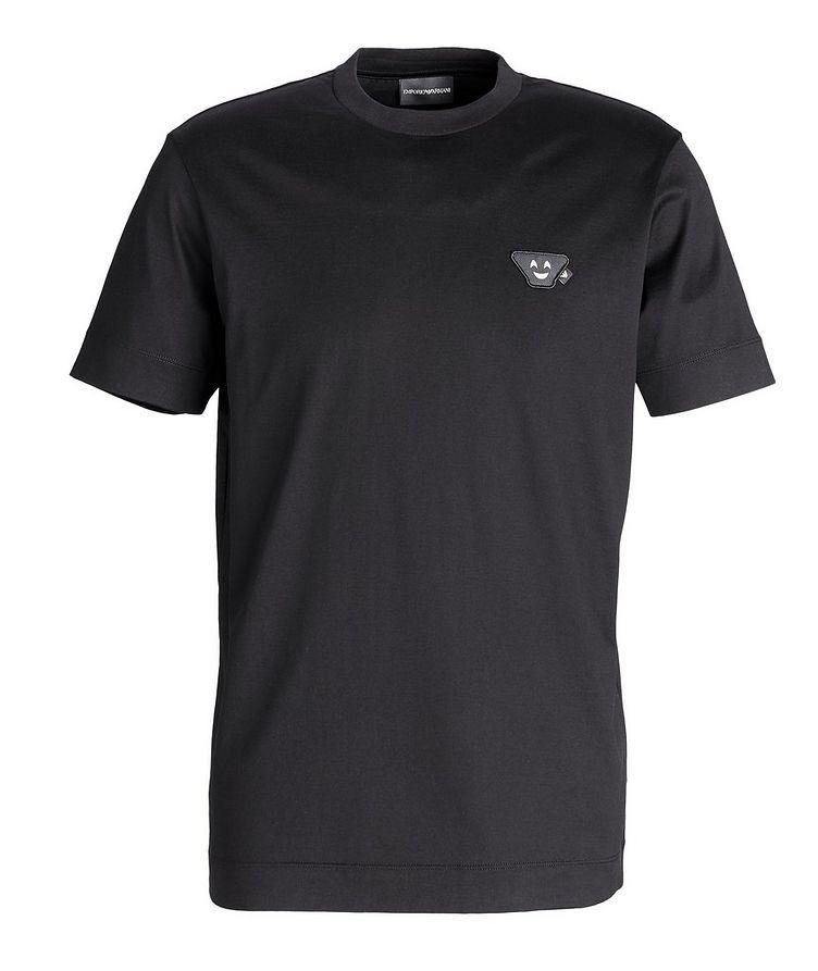 T-shirt en coton avec écusson d'émoji image 0