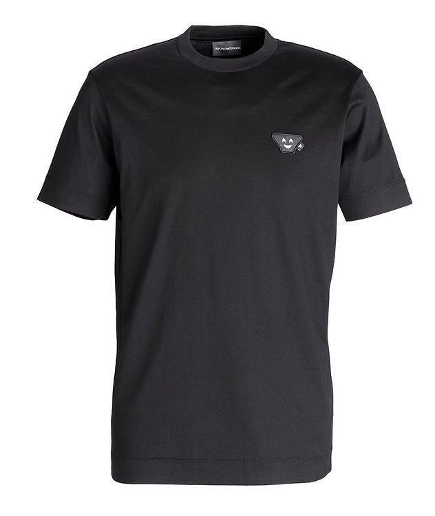 T-shirt en coton avec écusson d'émoji picture 1