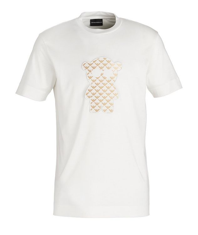 Manga Bear Patch Lyocell-Cotton T-Shirt picture 1