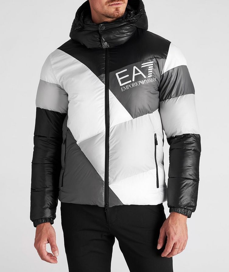 Colour-Blocked Down Puffer Jacket image 1
