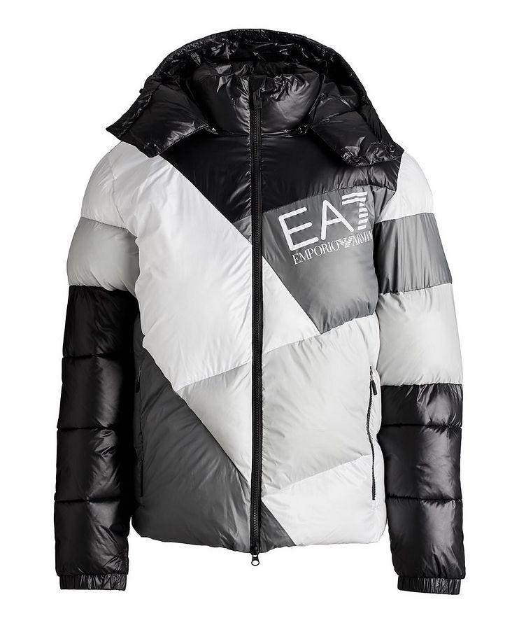 Colour-Blocked Down Puffer Jacket image 0