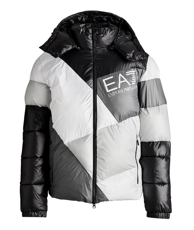 Colour-Blocked Down Puffer Jacket picture 1