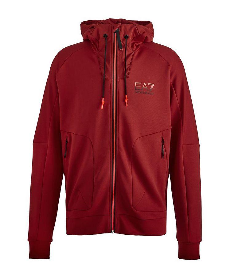 Zip-Up Technical Hooded Sweatshirt image 0