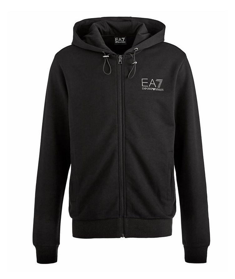 EA7 Zip-Up Technical-Cotton Hooded Sweatshirt image 0