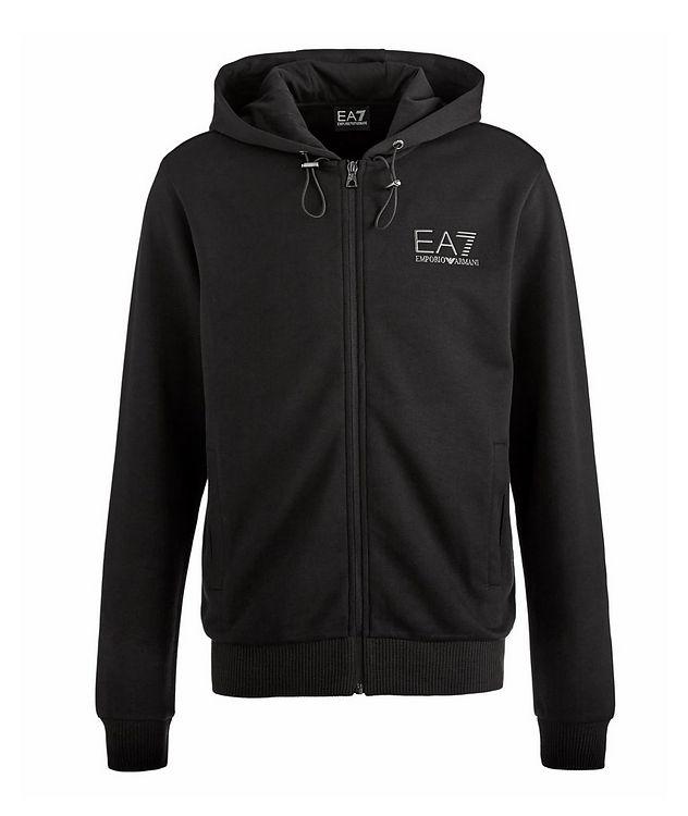 EA7 Zip-Up Technical-Cotton Hooded Sweatshirt picture 1