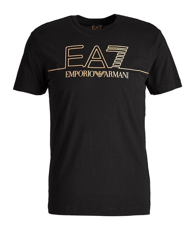 EA7 Logo Cotton T-Shirt picture 1