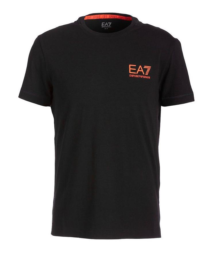 EA7 Stretch-Cotton Technical T-Shirt image 0