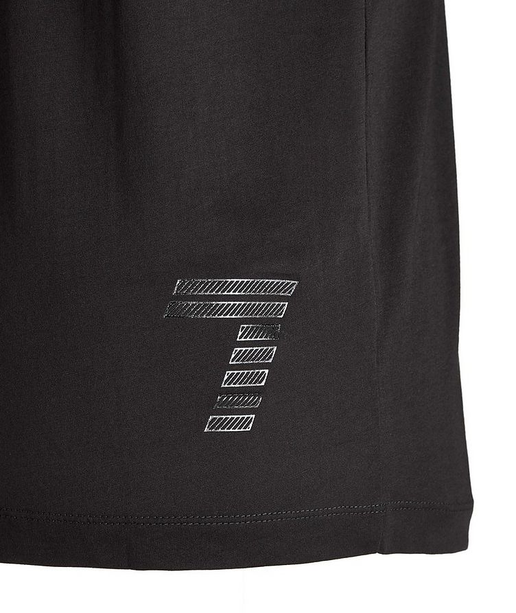 T-shirt en coton avec logo, collection EA7 image 2