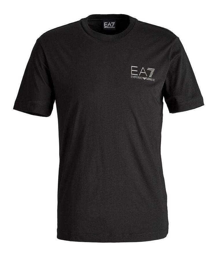 T-shirt en coton avec logo, collection EA7 image 0