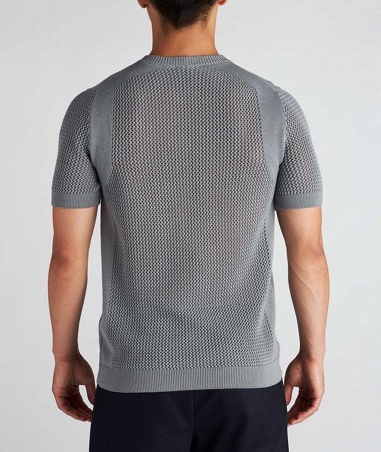 Braided Knit Wool-Cotton T-Shirt image 2