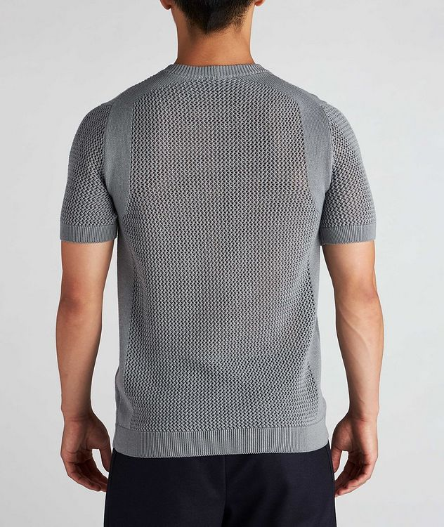 Braided Knit Wool-Cotton T-Shirt picture 3