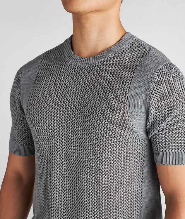 Braided Knit Wool-Cotton T-Shirt picture 4