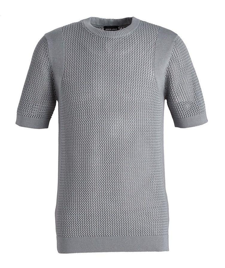 Braided Knit Wool-Cotton T-Shirt image 0