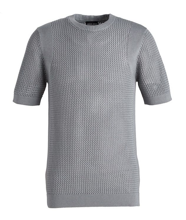 Braided Knit Wool-Cotton T-Shirt picture 1