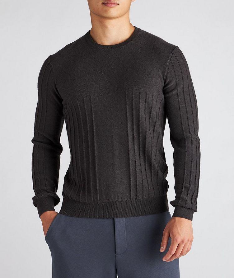 Raised Motif Cashmere Sweater image 1