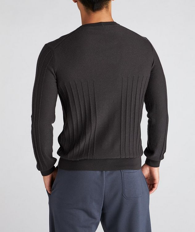 Raised Motif Cashmere Sweater picture 3