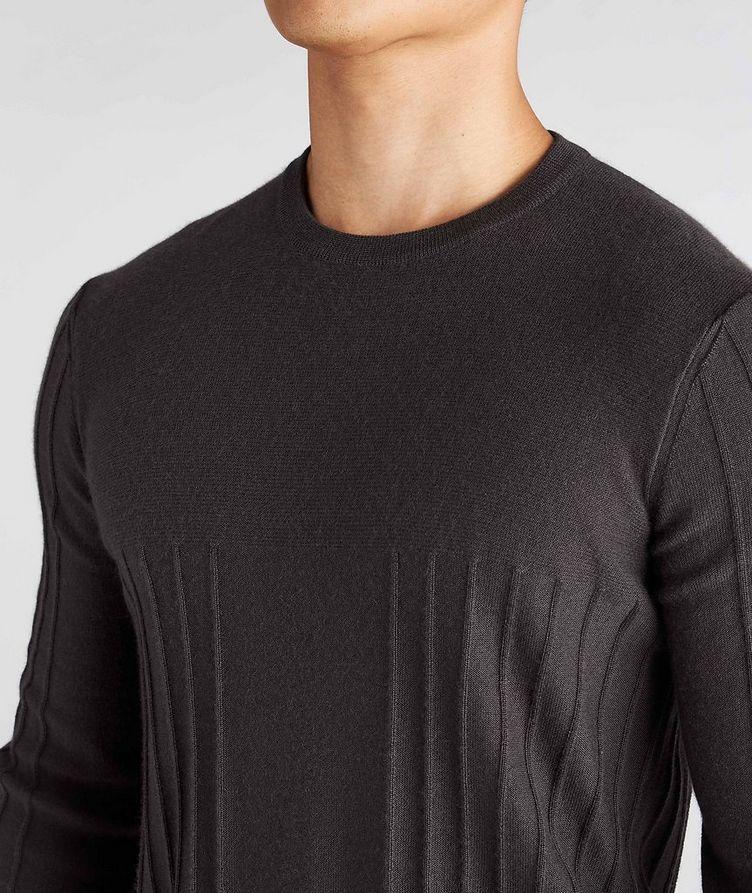 Raised Motif Cashmere Sweater image 3