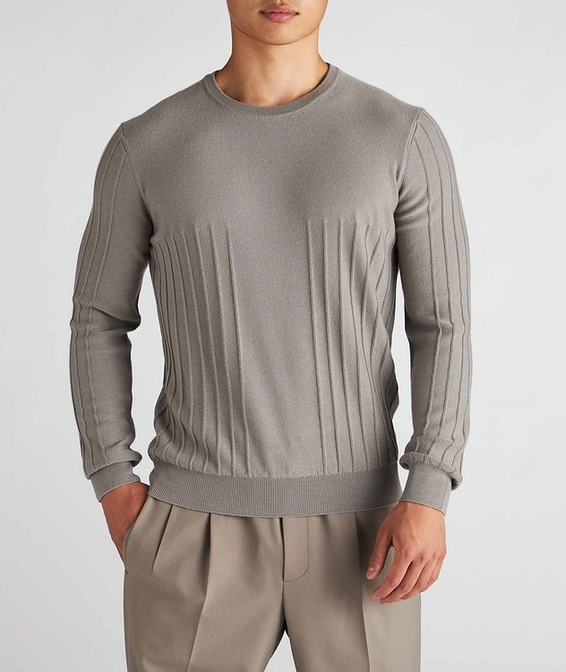 Raised Motif Cashmere Sweater picture 2