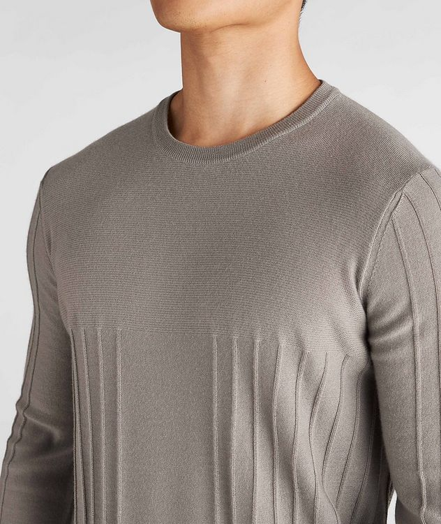 Raised Motif Cashmere Sweater picture 4