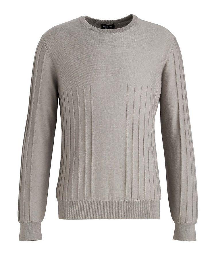 Raised Motif Cashmere Sweater image 0