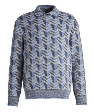 Giorgio Armani Chevron Wool-Blend Sweater