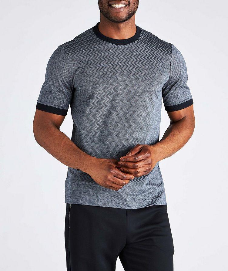Zig-Zag Cotton-Silk T-Shirt image 1