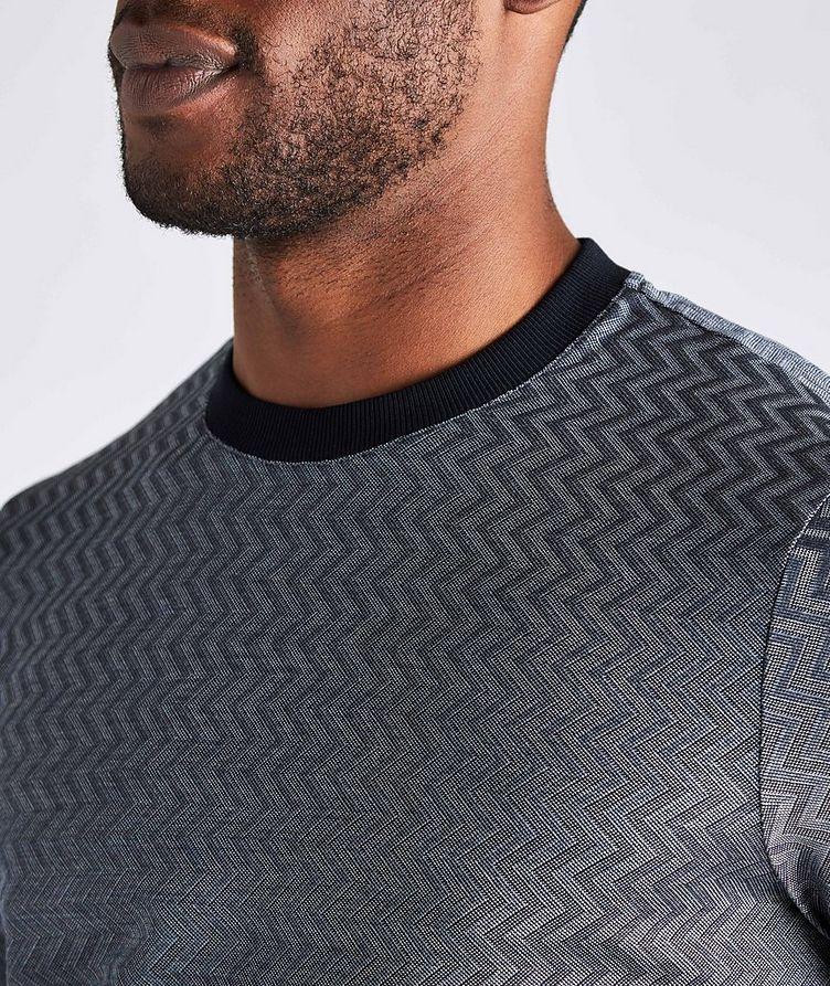Zig-Zag Cotton-Silk T-Shirt image 3