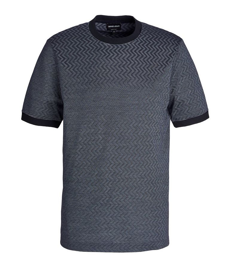 Zig-Zag Cotton-Silk T-Shirt image 0
