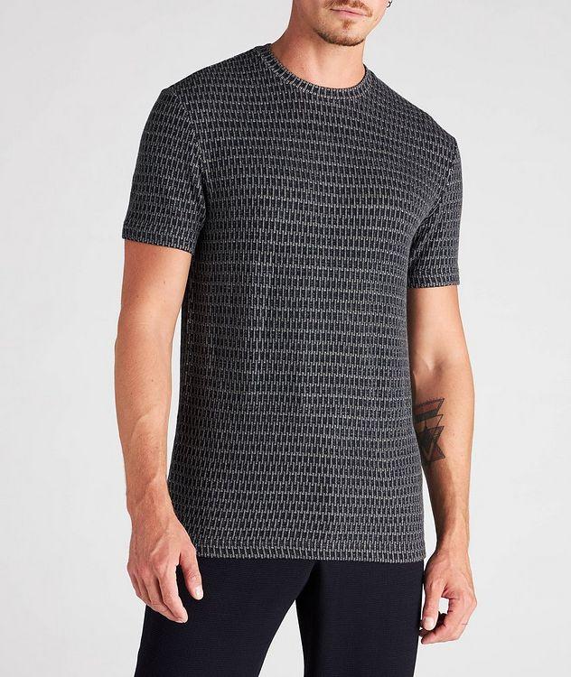 Jacquard Stretch-Viscose T-Shirt picture 2