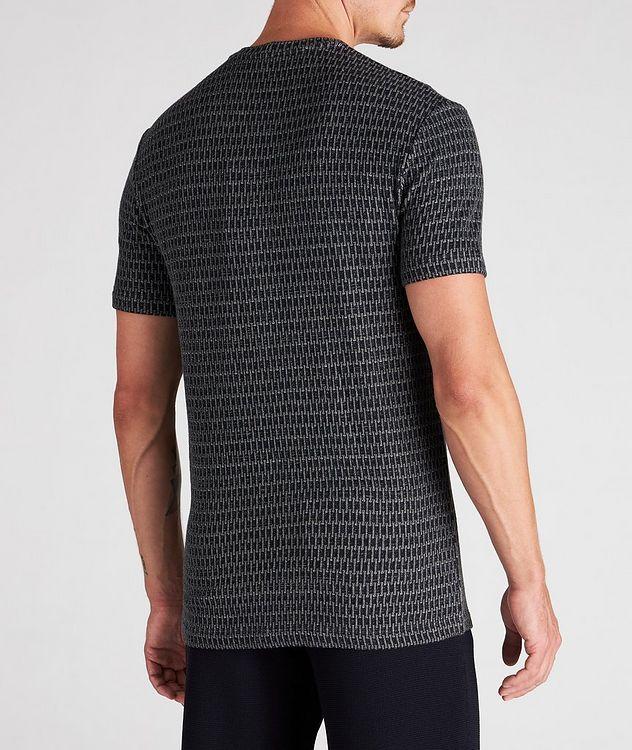 Jacquard Stretch-Viscose T-Shirt picture 3