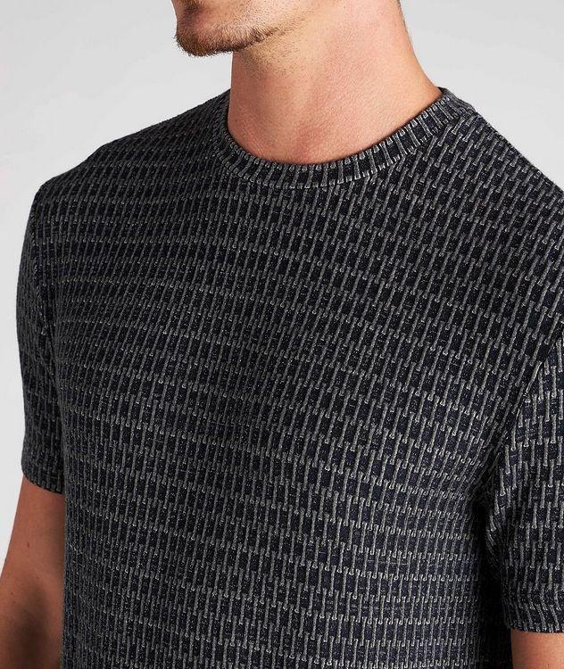 Jacquard Stretch-Viscose T-Shirt picture 4